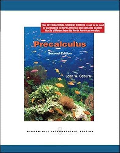 9780070172982: Precalculus (Int'l Ed)