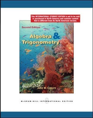 9780070173002: Algebra and Trigonometry (College Ie Overruns)