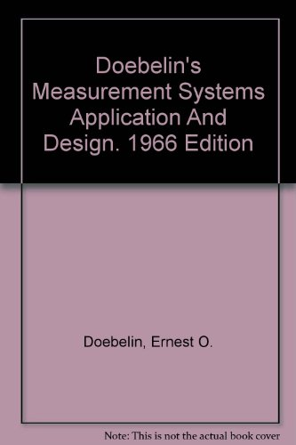 9780070173354: Measurement Systems: Application and Design;