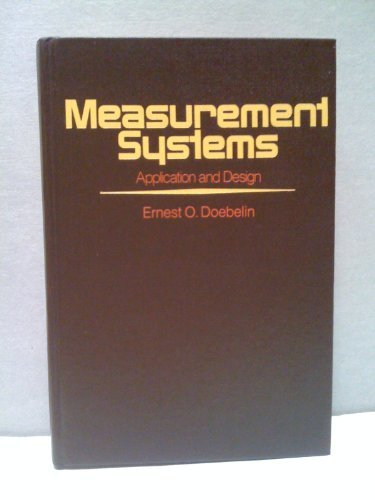 9780070173361: Measurement systems: application and design