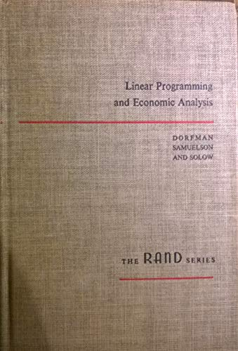 9780070176218: Linear Programming and Economic Analysis