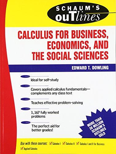 9780070176737: Schaum's Outline of Calculus for Business, Economics, and The Social Sciences