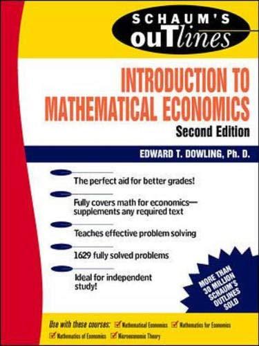 9780070176744: Introduction to Mathematical Economics (Schaum's Outlines)