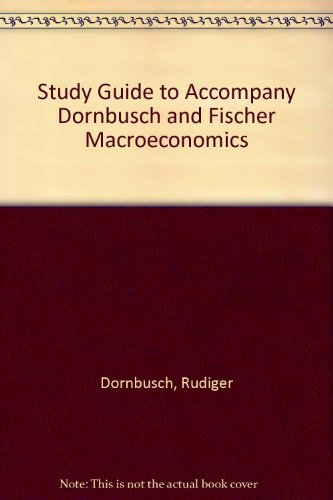 9780070177895: Study Guide to Accompany Dornbusch and Fischer Macroeconomics