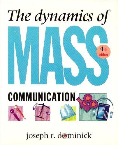 9780070178052: The Dynamics of Mass Communication (Mcgraw-Hill Series in Mass Communication)
