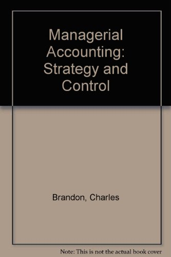9780070178533: Management Accounting: Strategy and Control