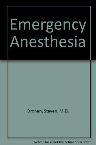 9780070178595: Emergency Anesthesia