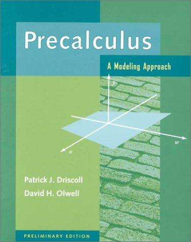 9780070178670: Precalculus: A Modeling Approach