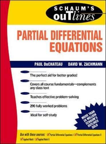 9780070178977: Schaum's Outline of Partial Differential Equations