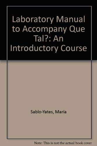9780070179592: Laboratory Manual to Accompany Que Tal?: An Introductory Course