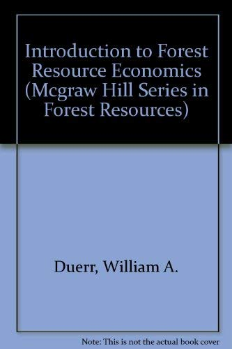 9780070179820: Introduction To Forest Resource Economics