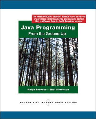 9780070181397: Java Programming: From the Ground Up. Ralph Bravaco, Shai Simonson