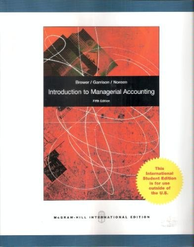 9780070181915: Introduction to Managerial Accounting