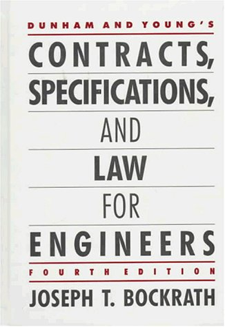 9780070182370: Dunham and Young's Contracts, Specifications, and Law for Engineers