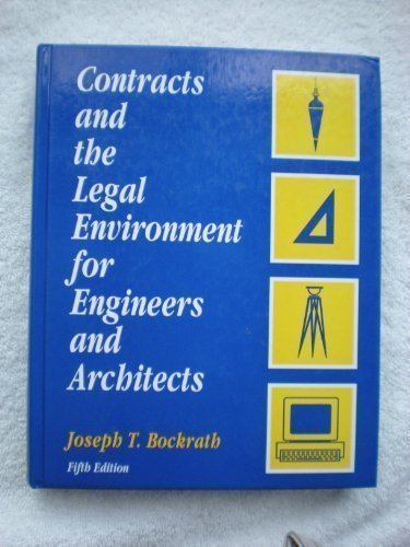 9780070182394: Contracts And The Legal Environment for Engineers and Architects
