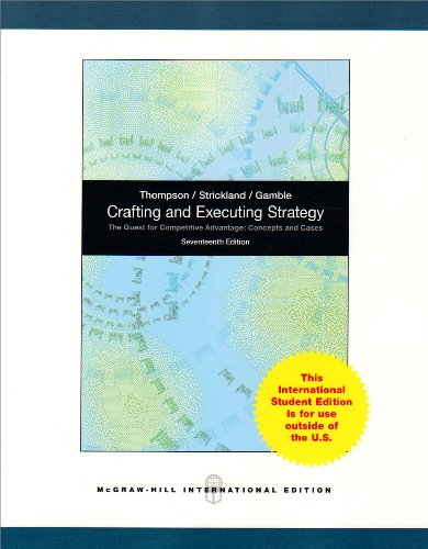 9780070182608: Crafting & Executing Strategy: The Quest for Competitive Advantage: Concepts and Cases