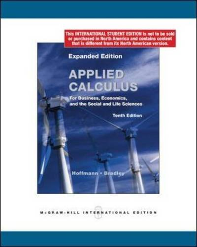 9780070182820: Applied Calculus for Business, Economics, and the Social and Life Sciences.