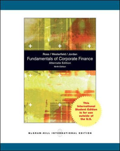 9780070183346: Fundamentals of Corporate Finance Alternate Edition