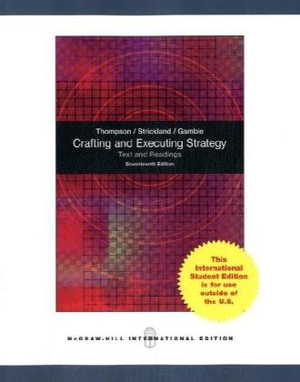 9780070183391: Crafting and Executing Strategy: Text and Readings.
