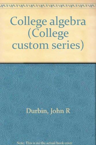 9780070183513: College algebra (College custom series)