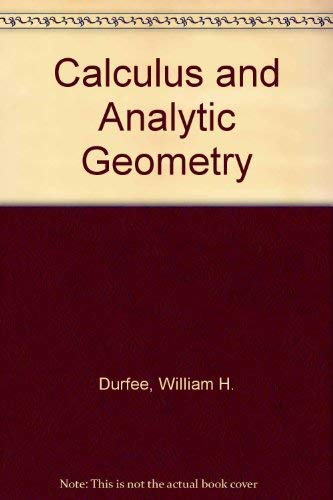9780070183780: Calculus and Analytic Geometry