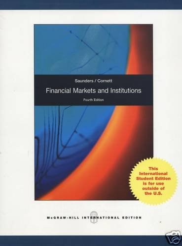 9780070187573: Financial Markets and Institutions. Anthony Saunders, Marcia Millon Cornett