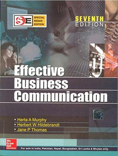 9780070187757: Effective Business Communication (sie)