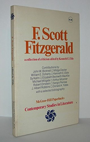 9780070188570: F. Scott Fitzgerald; A Collection of Criticism (Contemporary Studies in Literature)