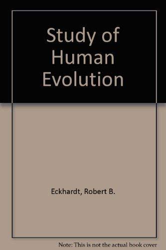 9780070189027: Study of Human Evolution