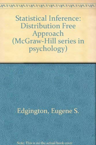 9780070189799: Statistical Inference - The Distribution-free Approach. Mcgraw-hill Series in Psychology