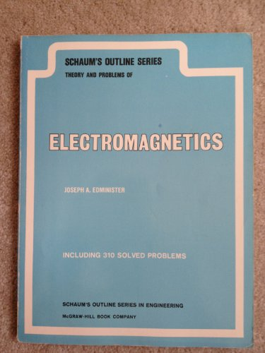 9780070189904: Schaum's Outline of Theory and Problems of Electromagnetics (Schaum's outline series)