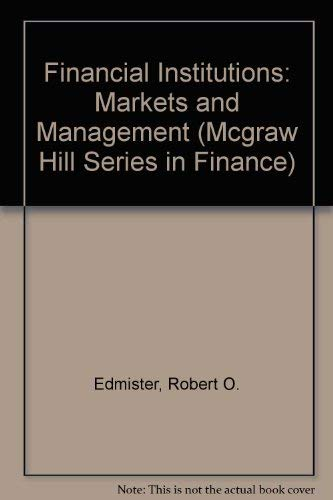 9780070190153: Financial Institutions: Markets and Management (Mcgraw Hill Series in Finance)