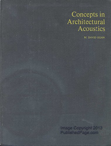 9780070190535: Concepts in Architectural Acoustics