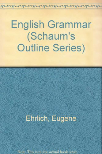 9780070190986: English Grammar (Schaum's Outline Series)