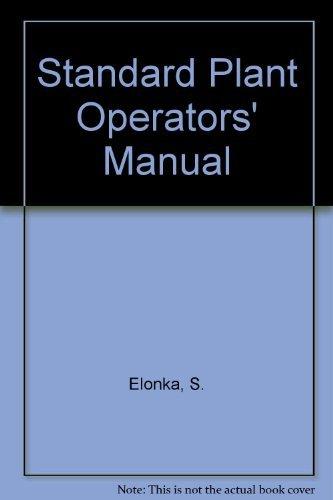 9780070192966: Standard plant operators' manual