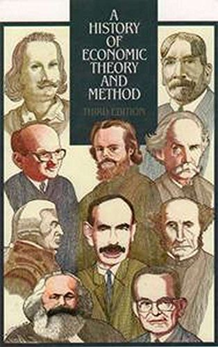 9780070194168: A History of Economic Theory and Method