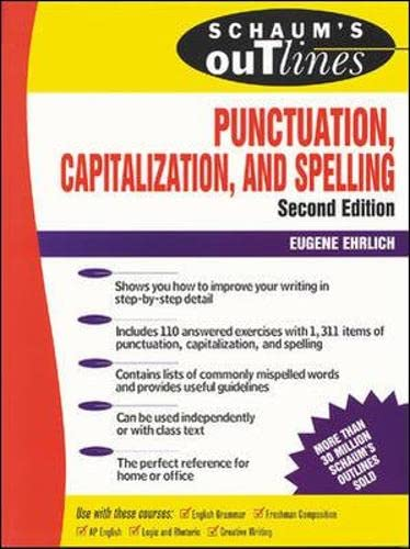 9780070194878: Schaum's Outline of Punctuation, Capitalization & Spelling