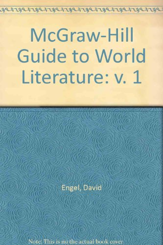 9780070195257: McGraw-Hill Guide to World Literature: v. 1