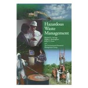 9780070195523: Hazardous Waste Management (McGraw-Hill Series in Water Resources and Environmental Engineering)
