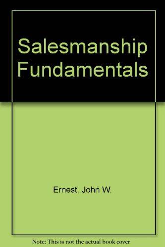9780070195905: Salesmanship Fundamentals