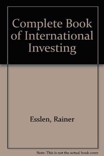 9780070196650: Complete Book of International Investing