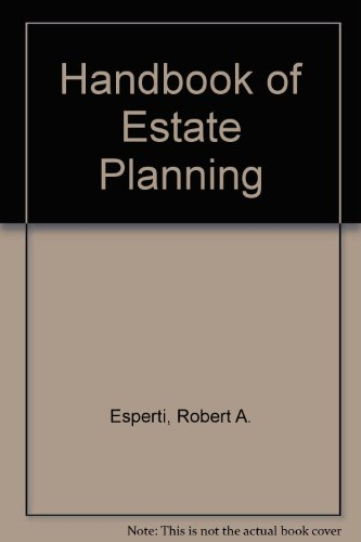 9780070196735: Handbook of Estate Planning