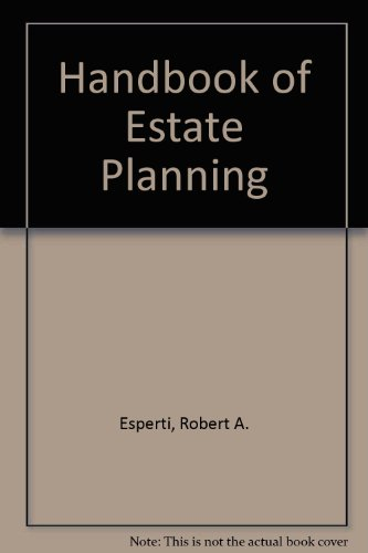 9780070196841: The Handbook of Estate Planning