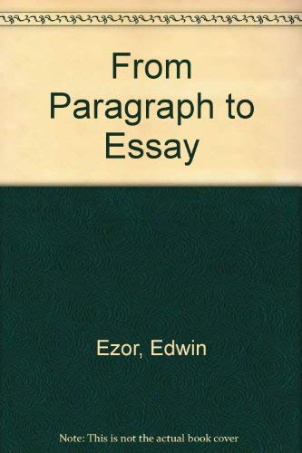 9780070198753: From Paragraph to Essay: A Process Approach for Beginning College Writing