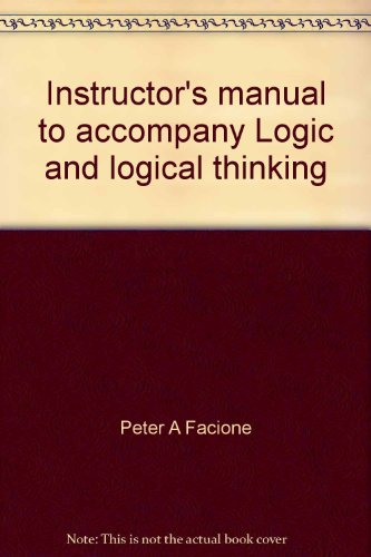 9780070198852: Instructor's manual to accompany Logic and logical thinking: A modular approach