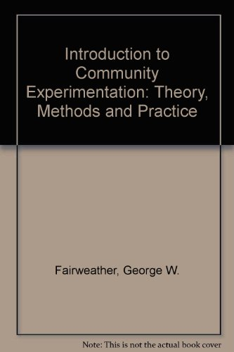 9780070199040: An Introduction to Community Experimentation: Theory, Methods, and Practice