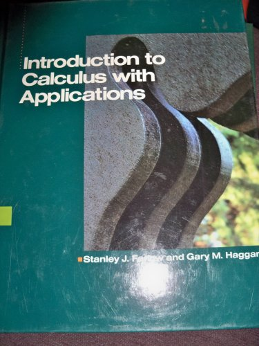 9780070199538: Introduction to Calculus With Applications