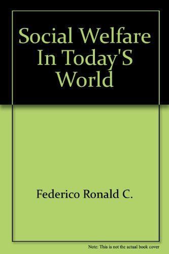 9780070203754: Social Welfare in Today's World