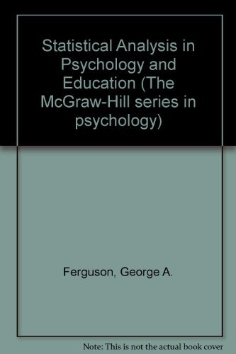 9780070204850: Statistical Analysis In Psychology and Education, 6th Edition