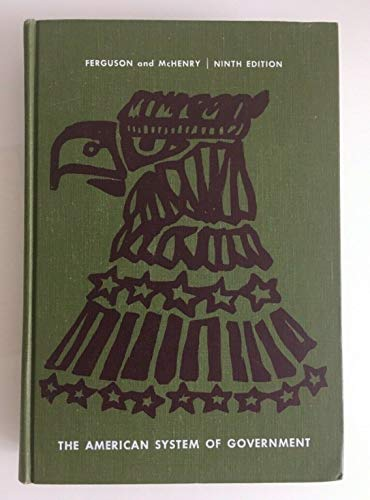 9780070205284: American System-Government -Wb/42